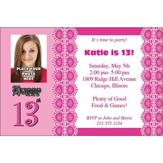 Get 13th Birthday Invitations Ideas Templates Download this - birthday invitation letter sample