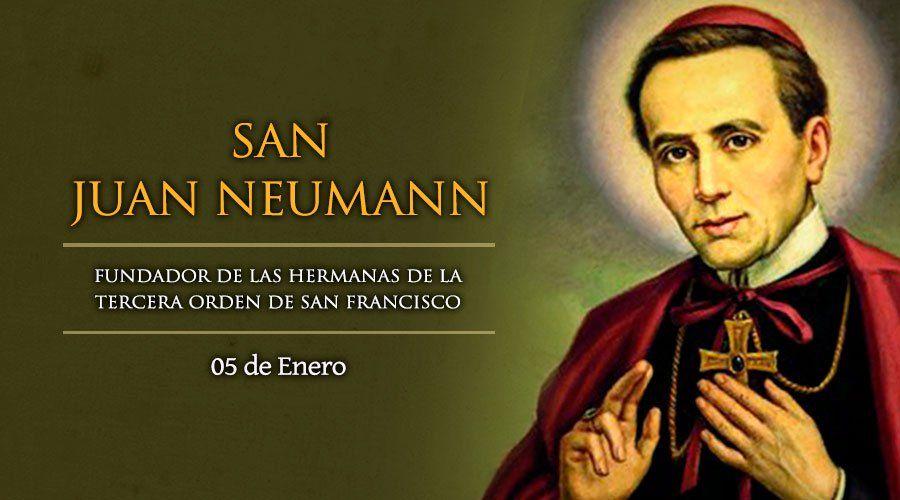 5 de enero: Fiesta de San Juan Neumann, Obispo de Filadelfia en Estados Unidos