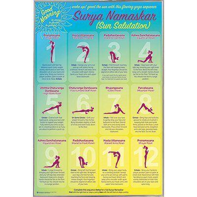 frame usa 'yoga sun salutation' framed graphic art print