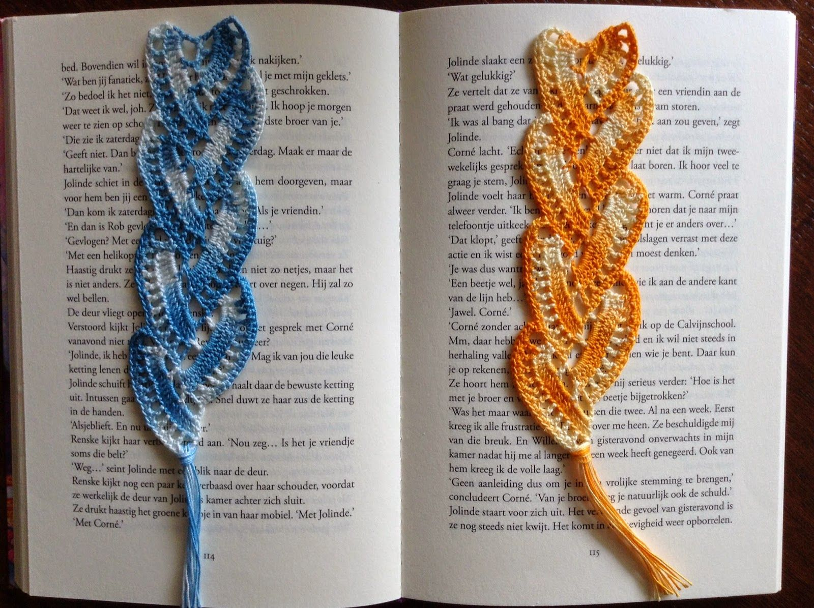 knutsel-mam: Een boekenlegger/gehaakt hartje..