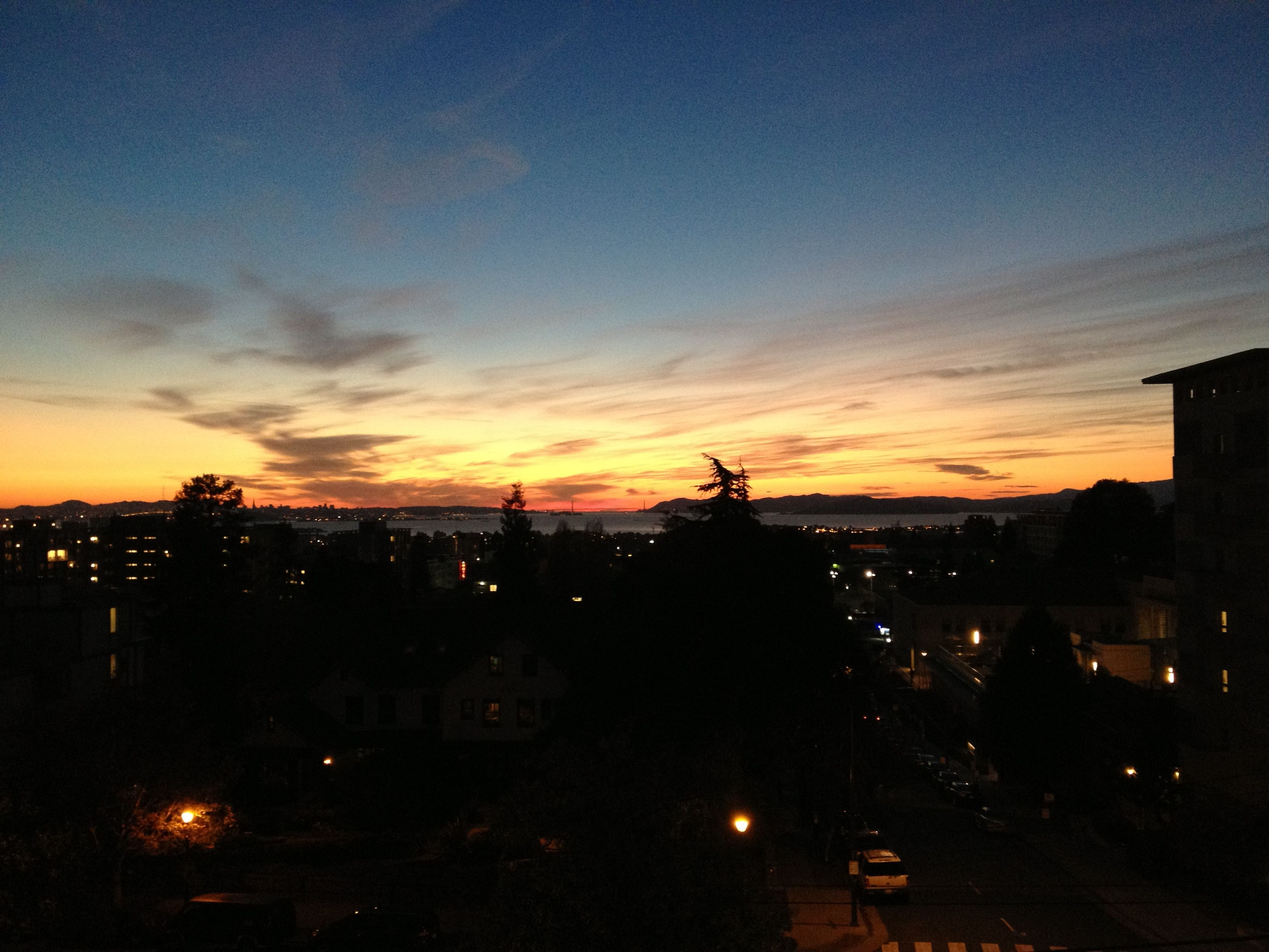 Sunset in Berkeley, CA!