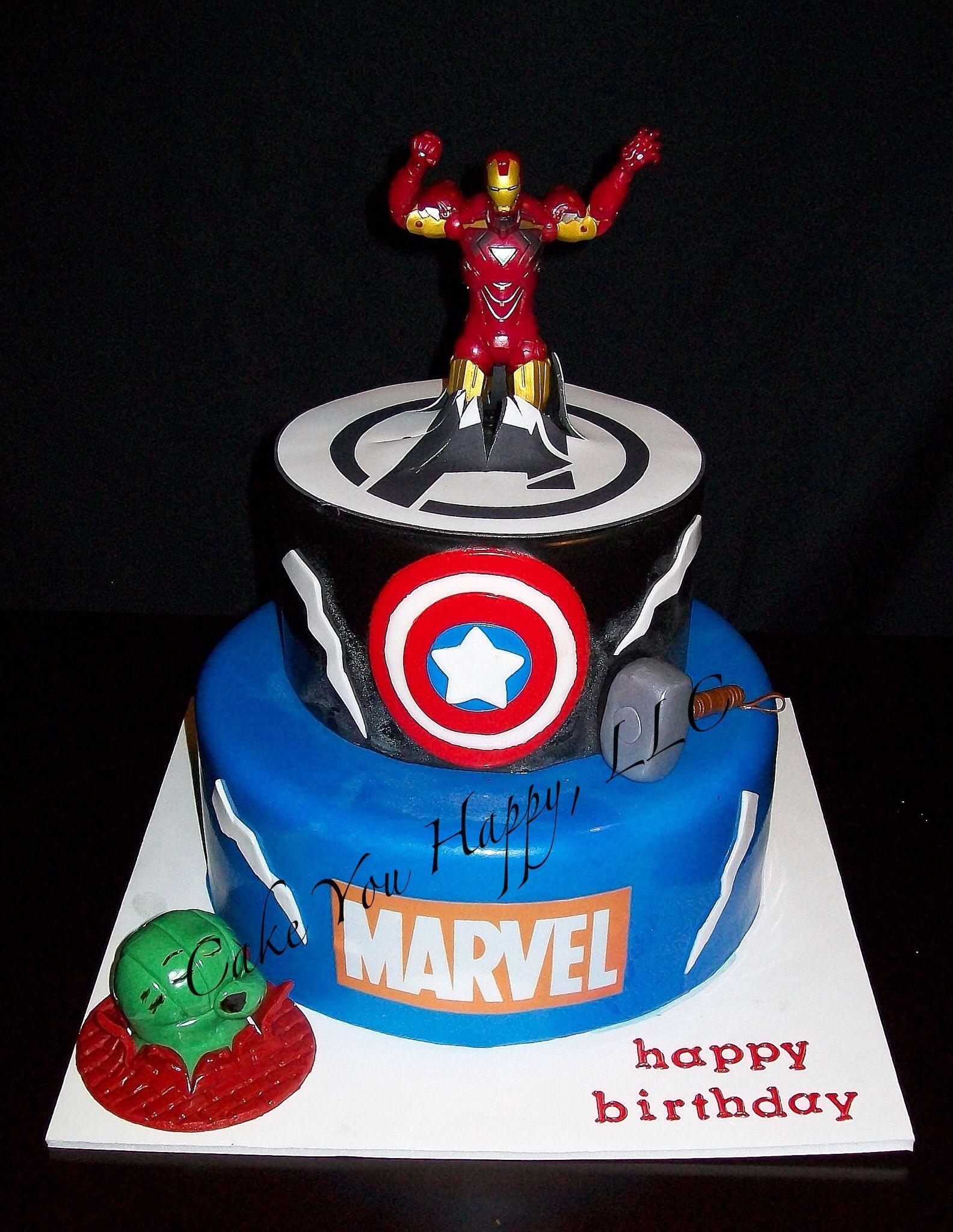 Avengers Birthday Cake Cakes Pinterest Avengers birthday cakes
