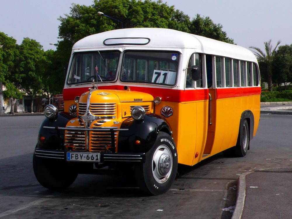 Old Looking Bus At The Terminus Valetta With Images Malta Bus