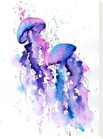 'Jellyfish' Stretched Canvas Print - Rachel McNaughton | Art.com
