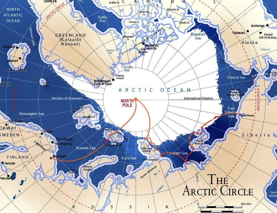 Map of north pole map of trip the arctic circle places i want map of north pole map of trip the arctic circle gumiabroncs Choice Image