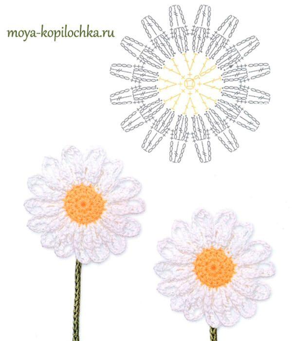 60 patrones de flores para tejer al crochet, hojas y mariposas ...