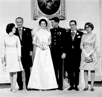 Wedding Portrait Of First Daughter Lynda Johnson To Marine Capt Charles Robb Married In The