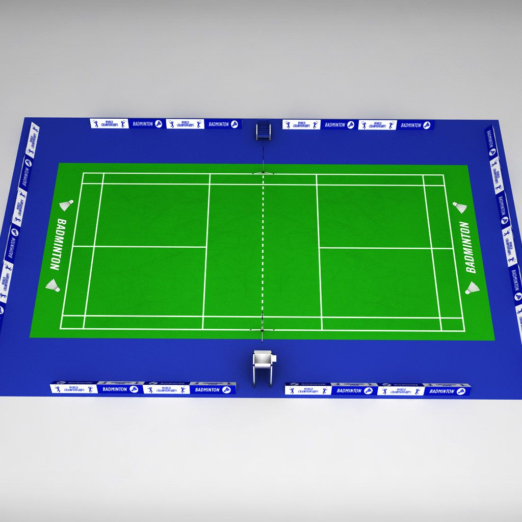 Badminton court arena (With images)   Badminton court ...