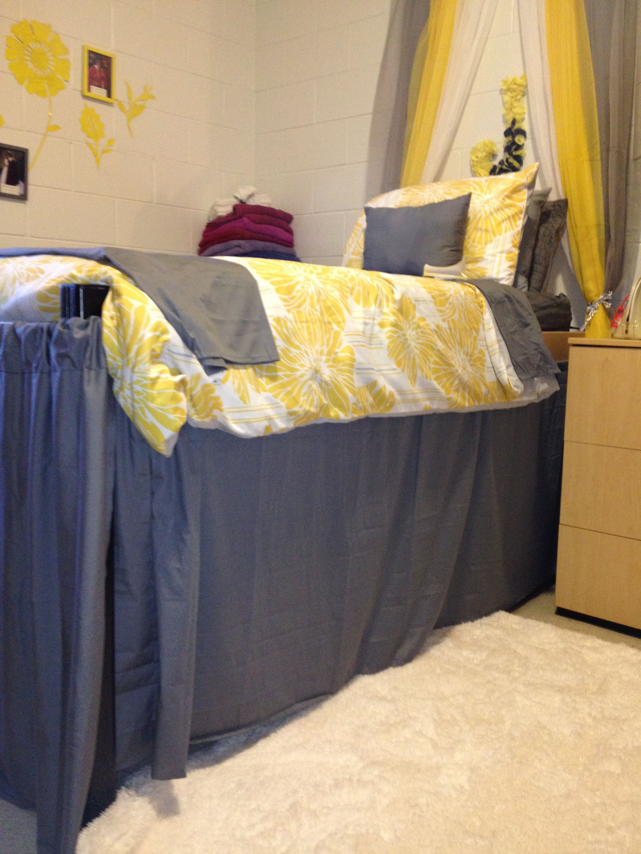 Grey And Yellow College Dorm Room Inspiration Little
