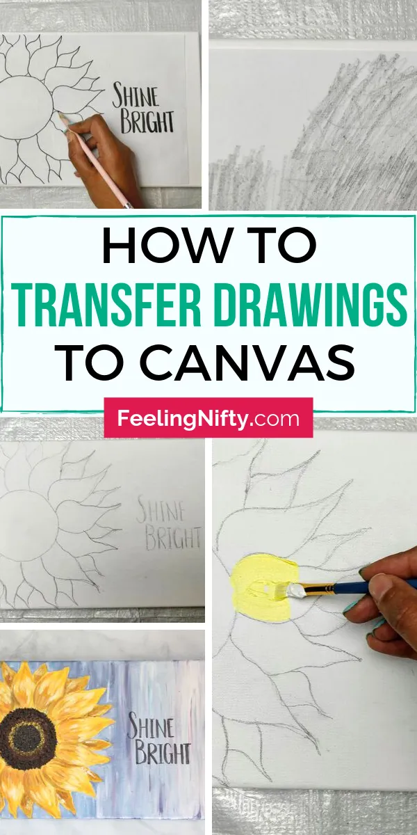 2 Easy Ways To Transfer A Drawing From Paper To Canvas Diy Canvas Art Easy Canvas Painting Diy Canvas Drawings