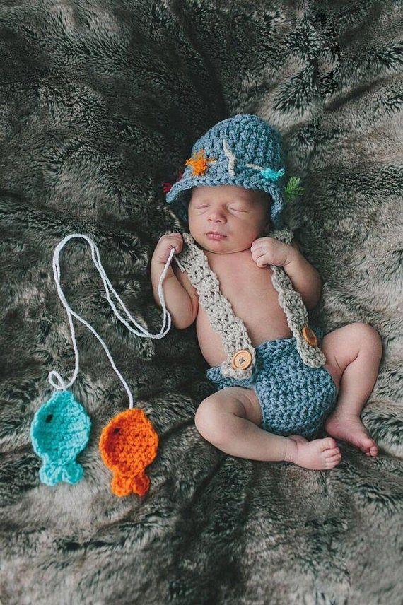 Photo of Baby Fisherman, Baby Fisherman Hat, Baby Fishing Outfit, Fisherman Outfit For Baby Boys, Newborn Boy Photo Outfit, Fishing Baby Shower