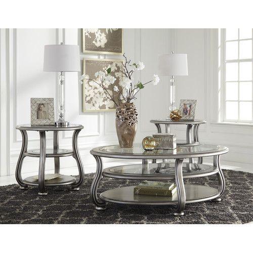Found It At Wayfair Coralayne Coffee Table Set Living Room Table Sets Silver Coffee Table Coffee Table