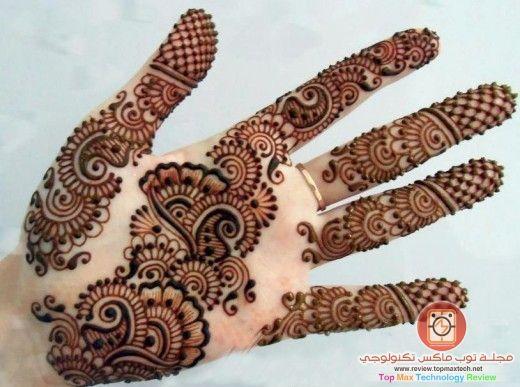 صورة نقش حناء ناعم جدا نقوش رقيقة على الاصابع و وردة انيقة Mehndi Designs Unique Mehndi Designs Mehndi Designs For Hands
