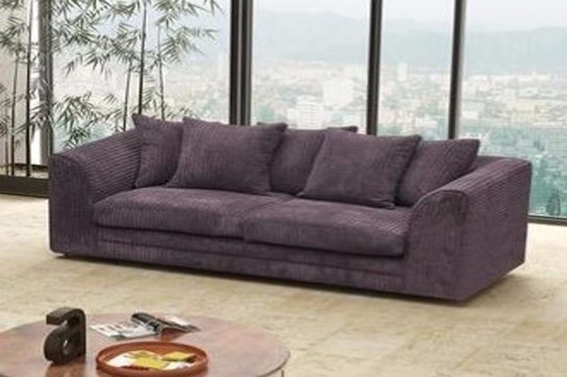 Logan 3 Seater Sofa Fabric Jumbo Cord Fabric Sofa 3 Seater Sofa Sofa