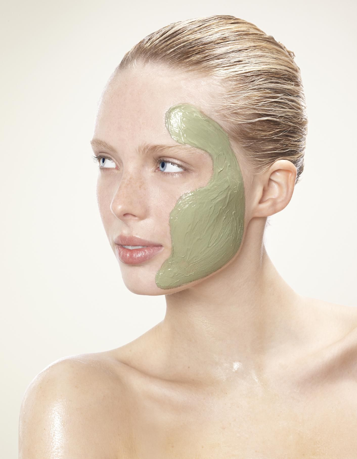 Masque visage purifiant soin visage masque visage masque argile verte visage et masque - Gommage visage maison point noir ...