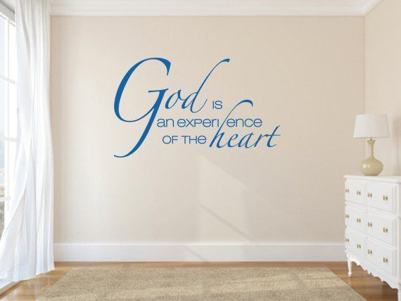 inspirational wall decal. god is an experience - code 010 in 2019
