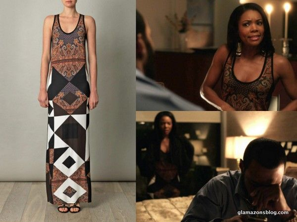 Being Mary Jane Fashion Recap: Givenchy Scarf Print Tank ...