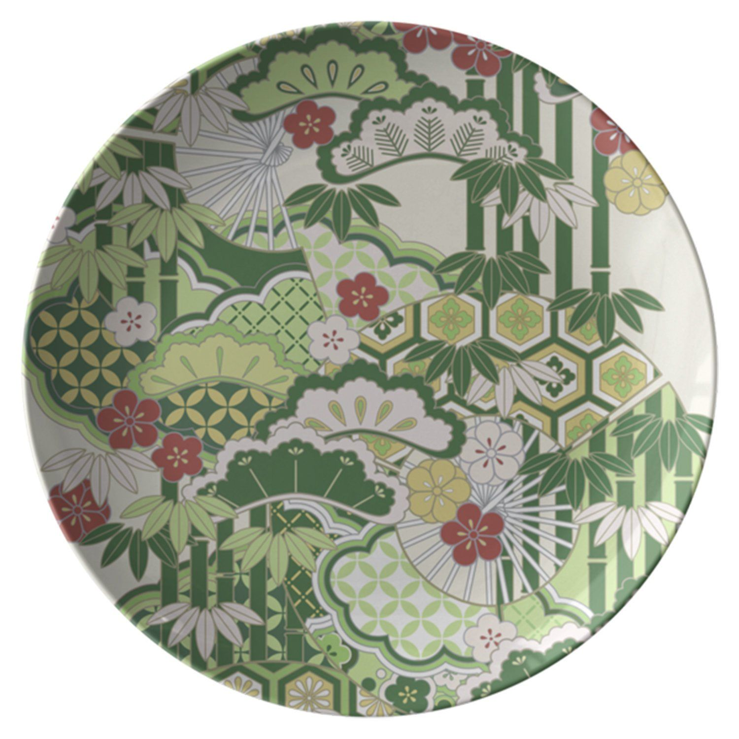 BAMBOO Japanese Pattern Plate New Years Gift by