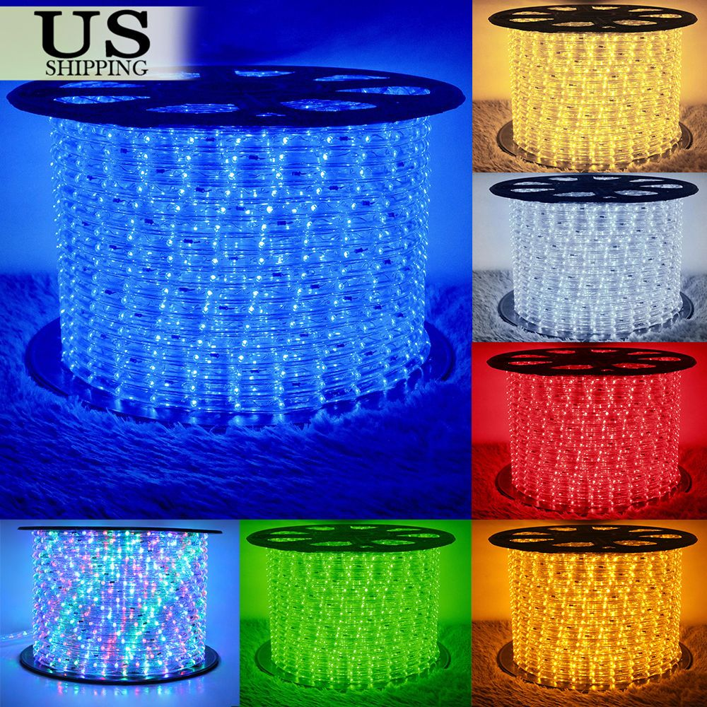 50 150 Led Rope Light 110v Party Home Christmas Outdoor Xmas Lighting 100 300 Home Garden Lamps Light With Images Led Rope Lights Led Rope Outdoor Christmas Lights