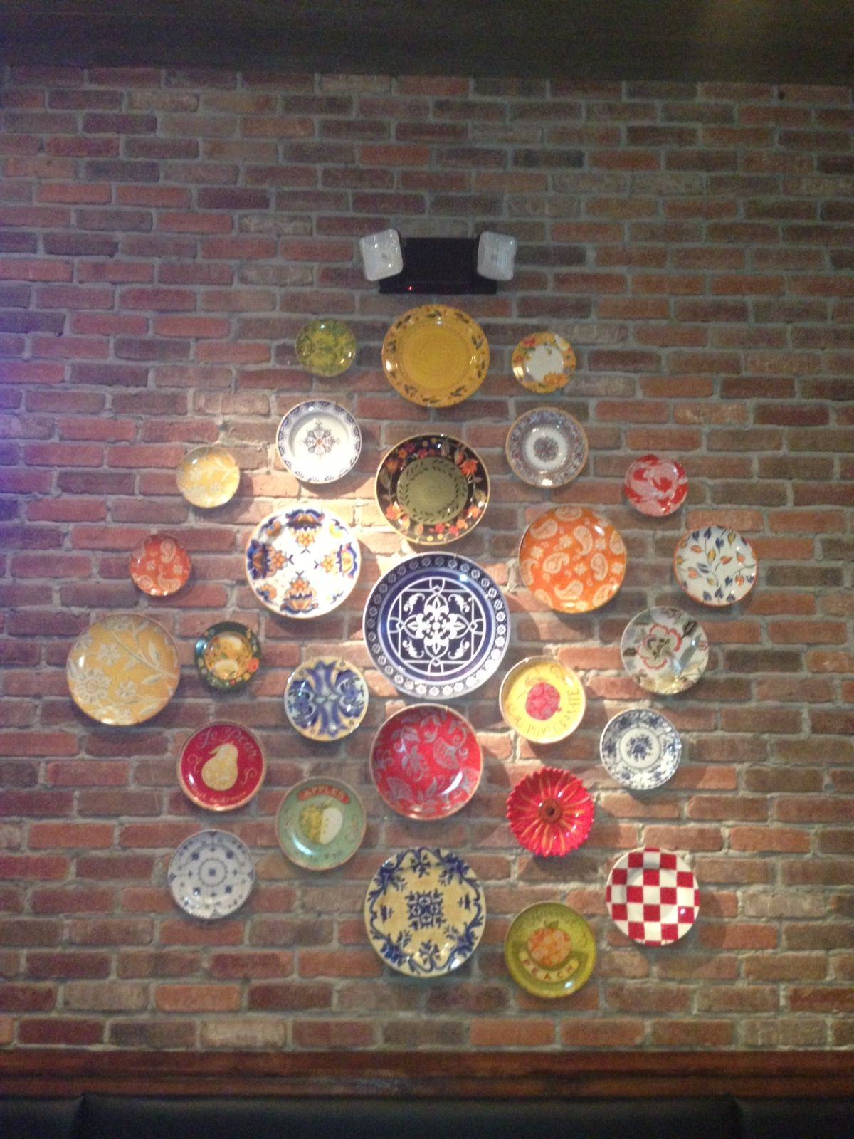 Brick Plate Wall At Salty Sues In Pcb Fl Plates On Wall Plate Decor Decor