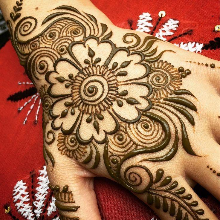 Henna Tattoo Hand Blume Elegant Arts Tattoo