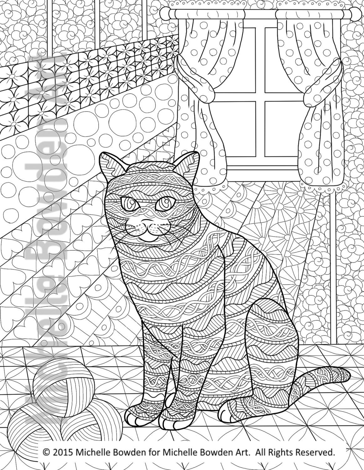 Coloring page printable triple temptation of by michellebowdenart