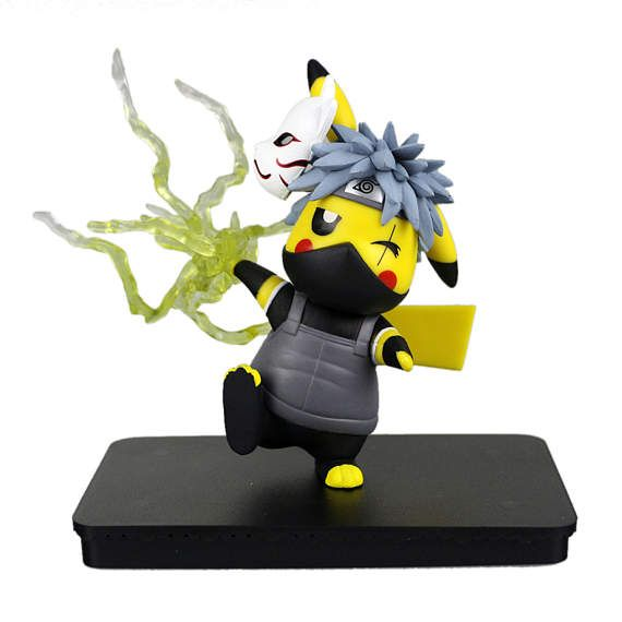 Pokemon Naruto Kakashi Pikachu Figurine Collectible Model Toy Pokemon Pikachu Cute Pikachu