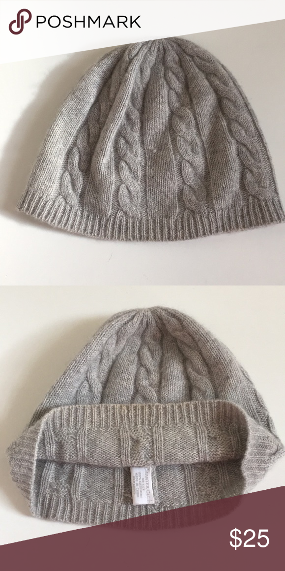 058d4df3a70aa 100% Cashmere Cable knit hat Macy s Charter club Cashmere warm winter hat  Charter Club Accessories Hats