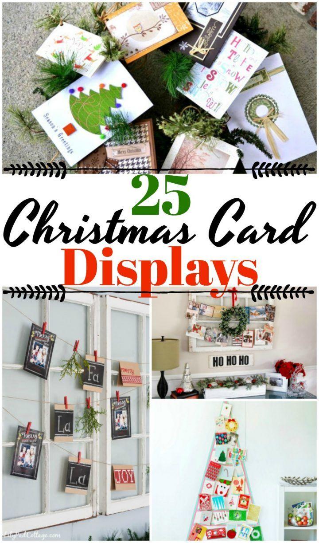 25 Diy Christmas Card Holders Holiday Greeting Card Display