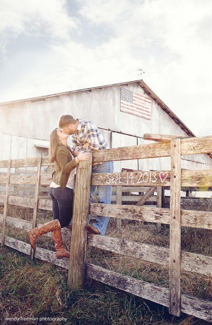 Country Couples With Horses Engagement Photos