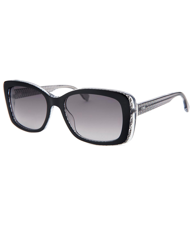 c4b8705f1d FENDI WOMEN S RECTANGLE BLACK SUNGLASSES 53 MM .  fendi  sunglasses ...