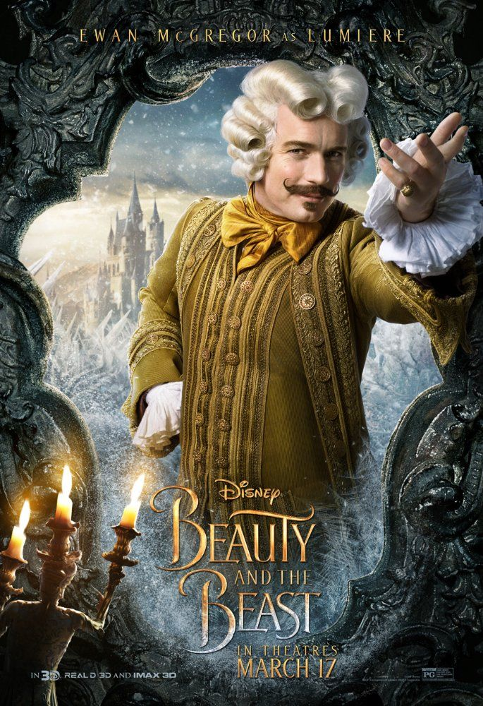 Ewen McGregor as Lumiere | An adaptation of the Disney fairy tale about a monstrous-looking prince and a young woman who fall in love.