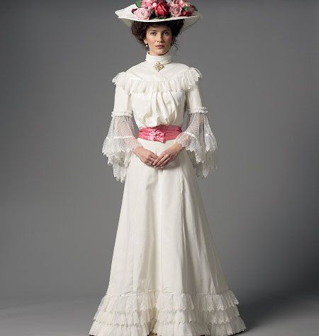 Historical Dress Pattern, Butterick B5970 Victorian / Edwardian ...