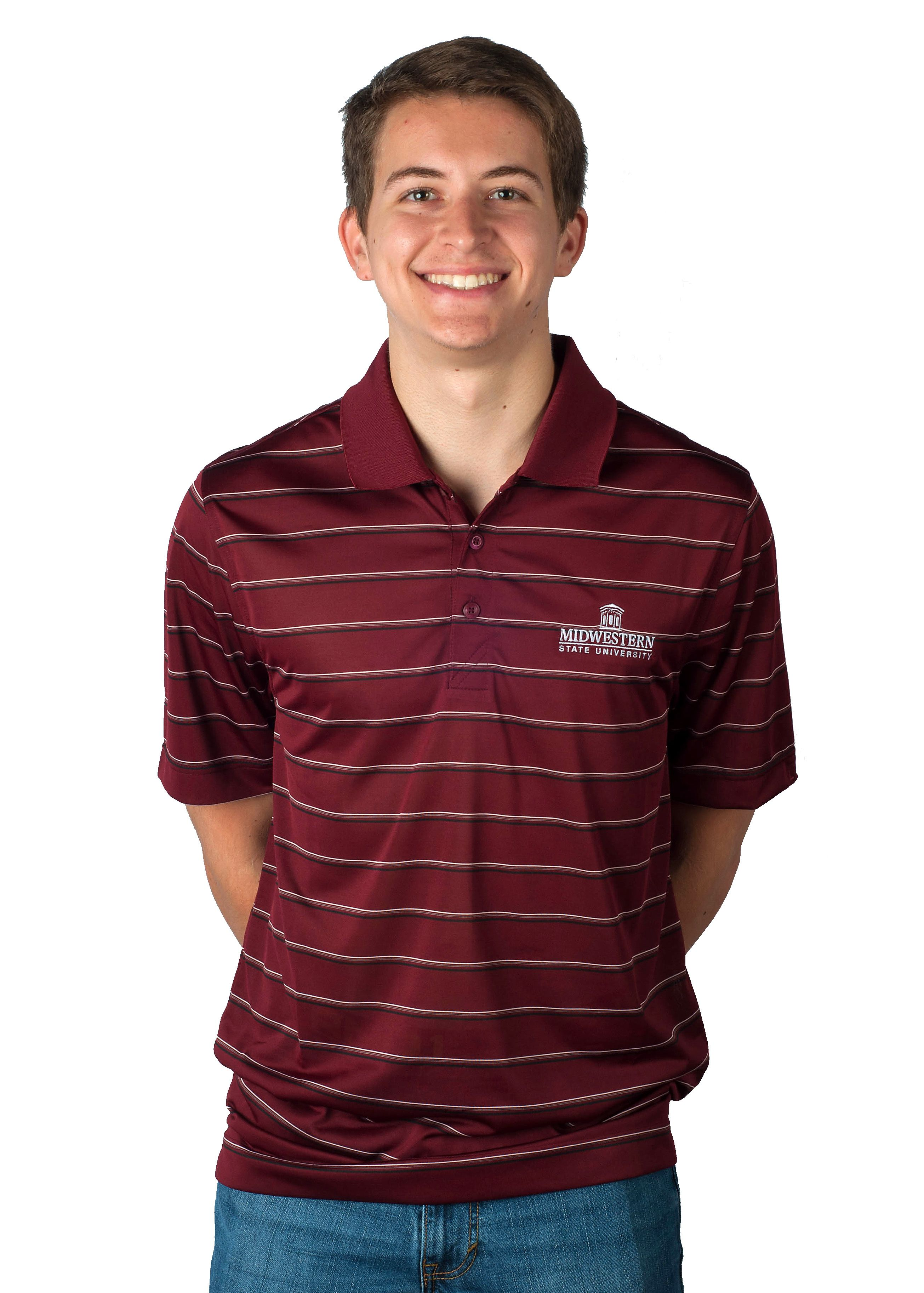 best sneakers 3c44a 9bb33 Midwestern State University embroidered logo Maroon polo in ...