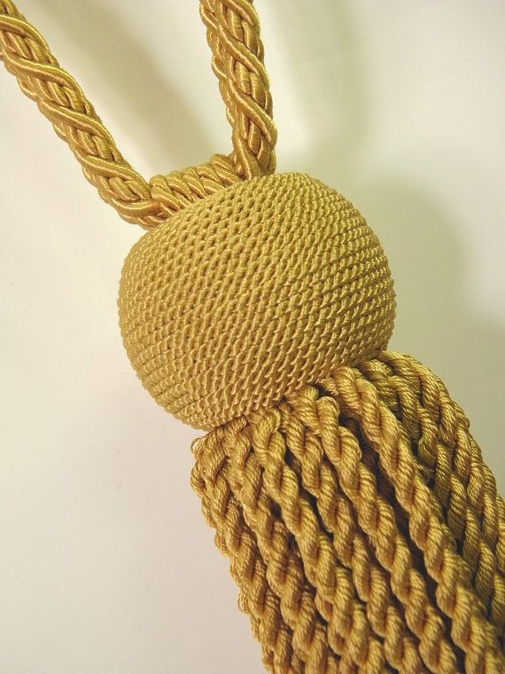 Modern Tieback Mustard Yellow Gold Tassel Curtain By Eleptolis