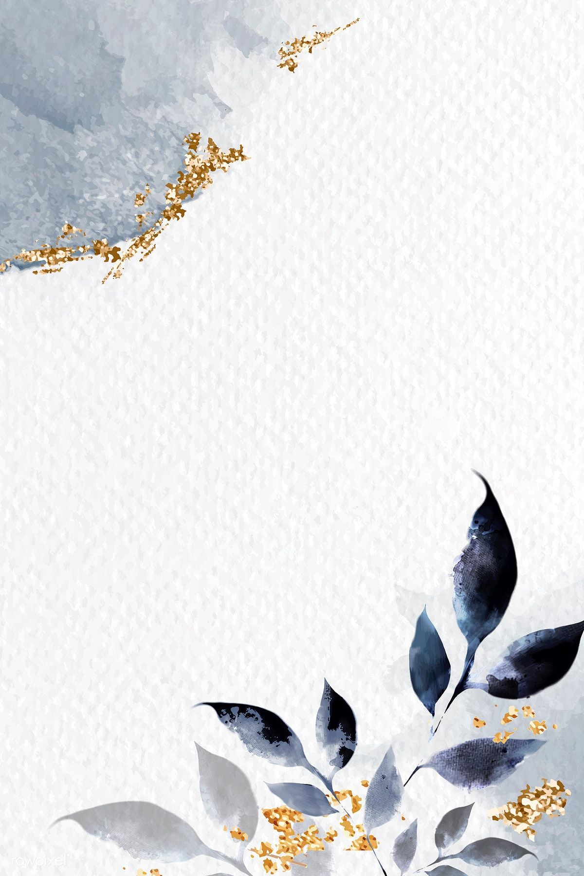 Shimmering watercolor leafy frame vector | premium image by rawpixel.com / Adj