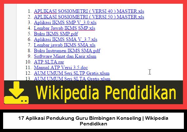 Wikipedia Pendidikan 17 Aplikasi Pendukung Guru Bimbingan Konseling Wikipedia Pendidikan Konseling Aplikasi Pendidikan