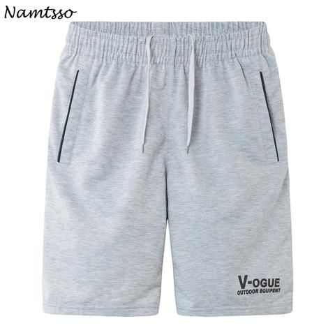 2cd01a765a Summer men's casual fifth pants loose plus size male quick-drying Solid  color beach shorts