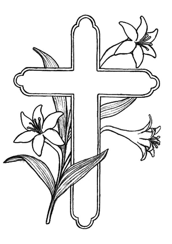 Print Coloring Image Momjunction Cross Coloring Page Easter Coloring Pages Bible Coloring Pages