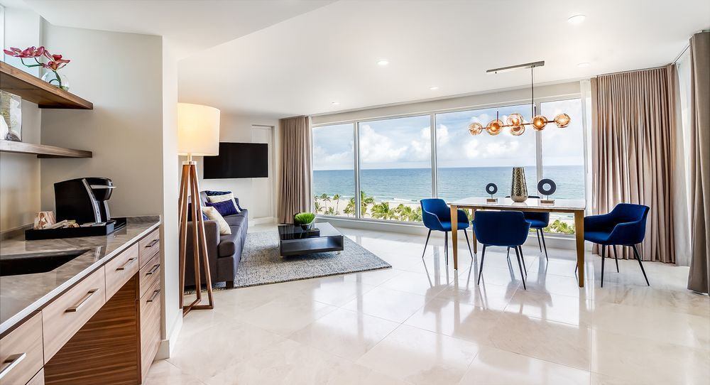 B Hotel Fort Lauderdale Usa Interior Design Custom Furniture Commercial Penthouse Livi Penthouse Living Hotel Interior Design Grey Sofa Living Room