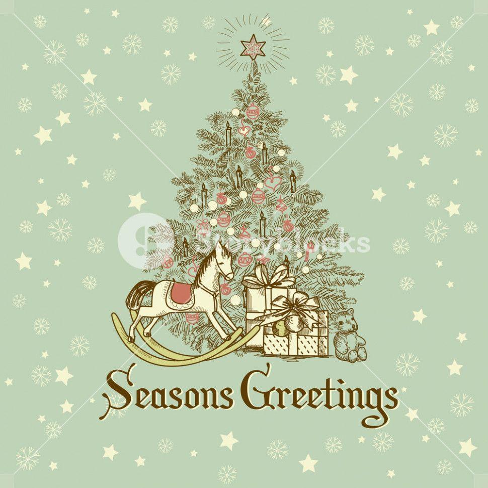 Christmas Card Illustration Invitationcard