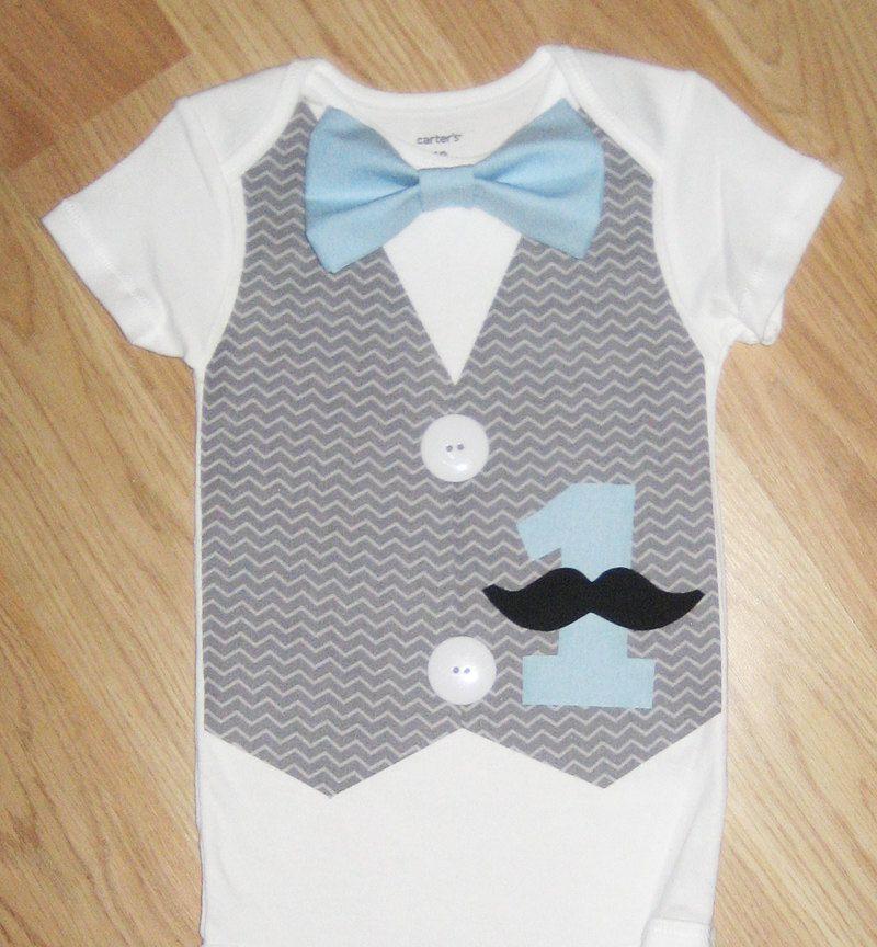 Mustache Tie Onesie
