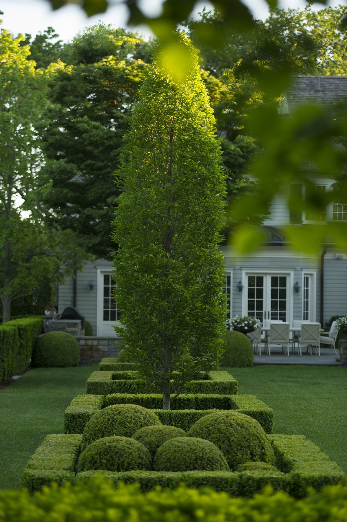 Landscape of house garden  Pin by marta on garden  Pinterest  Gardens Landscaping and Topiary
