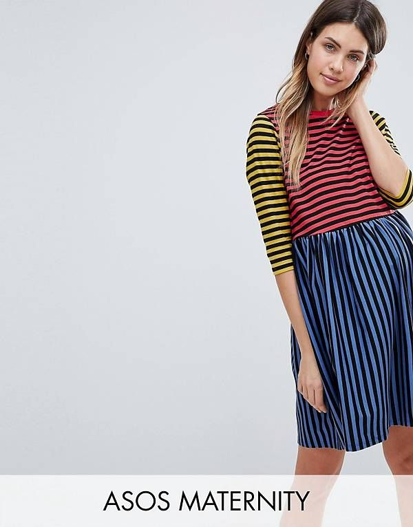 991c520ab78ee ASOS MATERNITY Cut About Stripe Mini Smock Dress   Everyday Mood ...