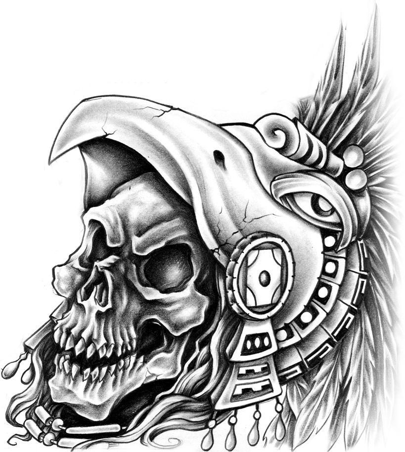 Aztec Warrior Guerrero Aguila Calaveras Pinterest Aztecas