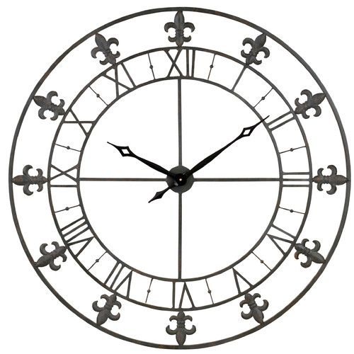 Found It At Wayfair 39 Adelie Fleur De Lis Wall Clock Grey Wall Clocks Wall Clock Paris Wall Clock