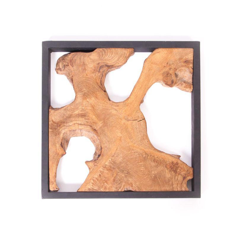 Framed Teak Root Slab Zenporium Teak Wall Art Wood Wall Art Teak Wall