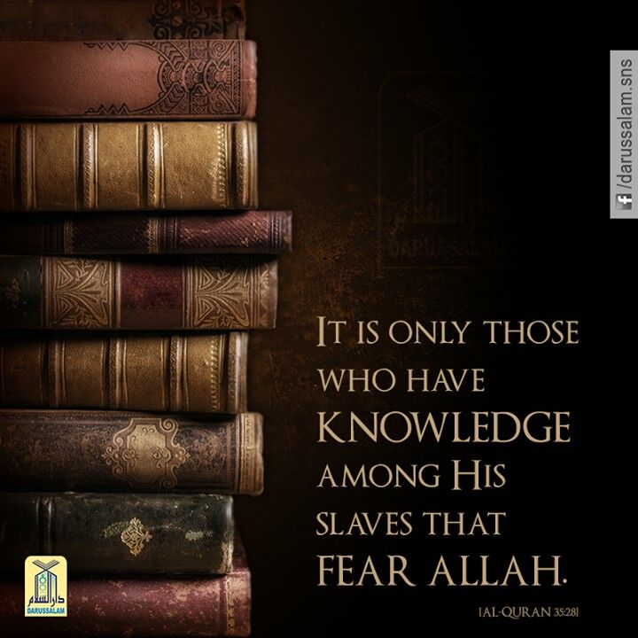 Have knowledge & fear Allah