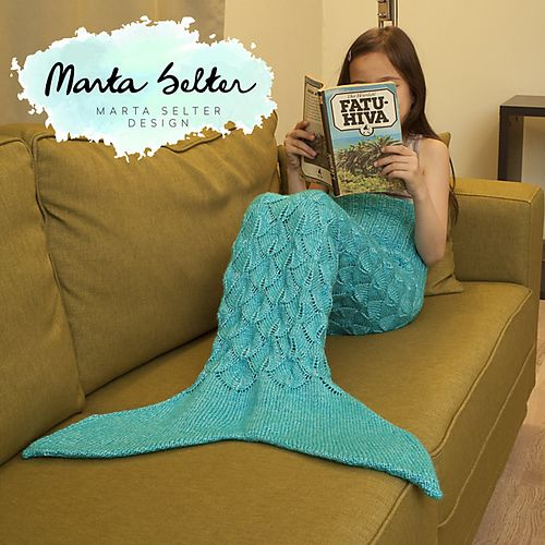 Childrens Mermaid Tail Knitting Pattern Includes Full Video