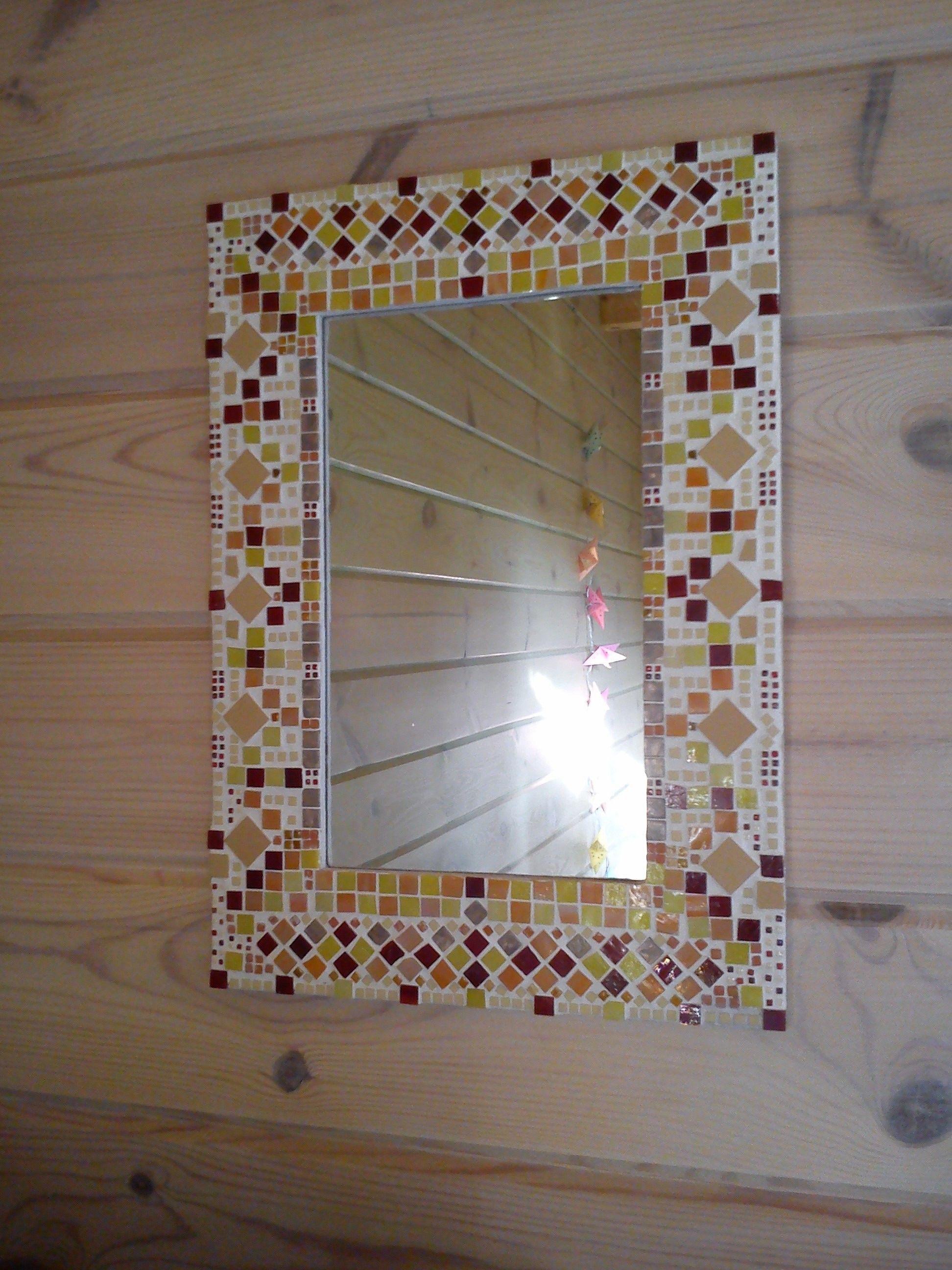 miroir avec cadre en mosa que fait maison bricolage diy pinterest fait maison. Black Bedroom Furniture Sets. Home Design Ideas
